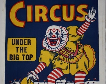 Roller Bros. Clown Circus Poster