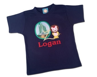 Boy's Cowardly Lion Shirt - 'The Wonderful Wizard of Oz' Shirt with Name