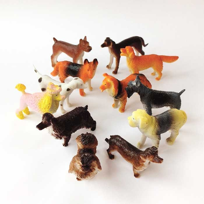 Dog Safe Cake Decorations : Dog Cake Toppers 6 Miniature Animals Plastic Puppies Dogs