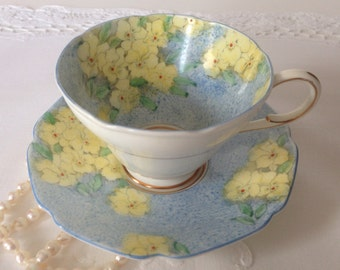 Hand Painted Paragon China Tea Cup & Saucer