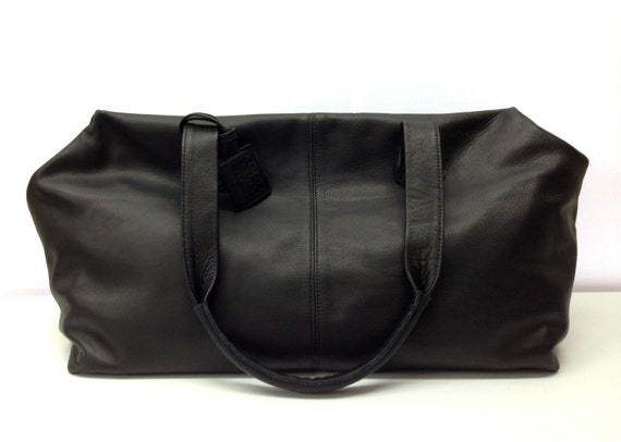 Sale Leather duffle travel bag extra large leather carry