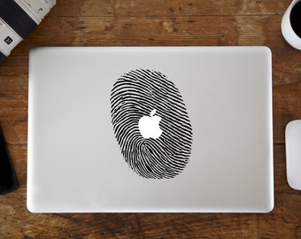 Big Fingerprint MacBook Decal