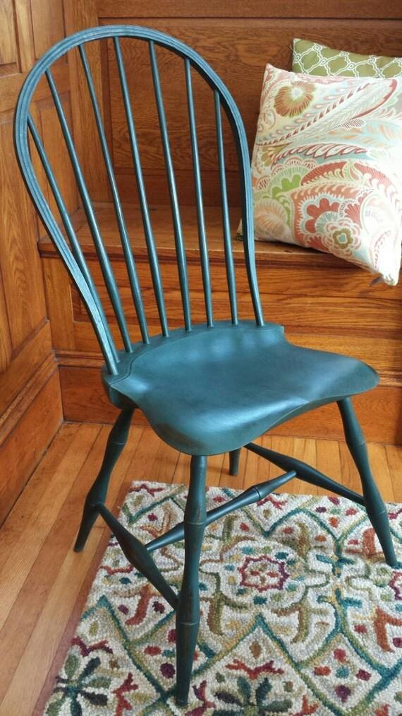 Handmade Hoop Back Windsor Chair With Beautiful Milk Paint