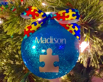 Autism Awareness Christmas Ornament