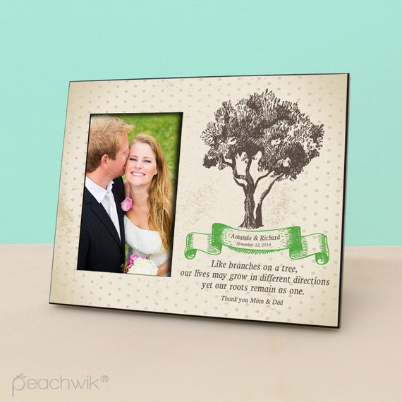 Parents Wedding Gift- Personalized Picture Frame - Wedding Gift Photo ...