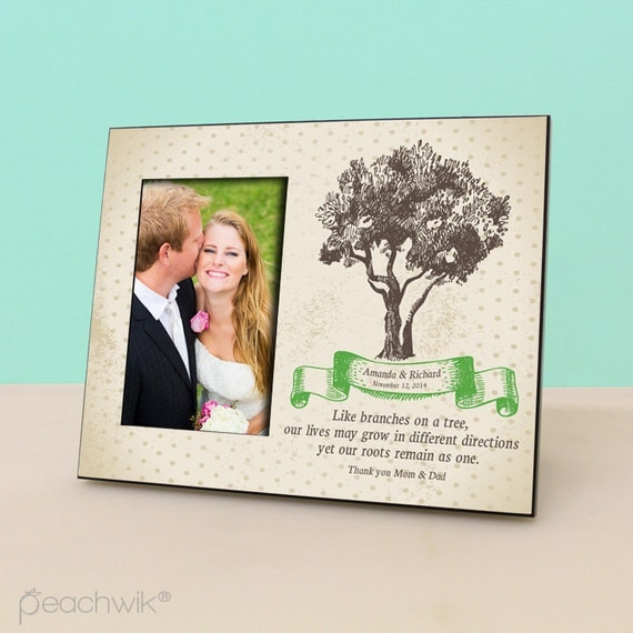 Personalized Wedding Picture Frames Parents : Parents Wedding Gift- Personalized Picture Frame - Wedding Gift Photo ...