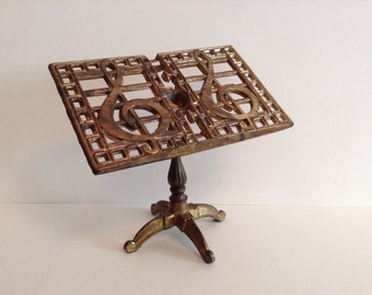 Vintage brass mini music/picture stand