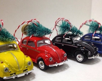 Beatiful VW ornaments beetles and busses ready to become part of your christmas tradition.