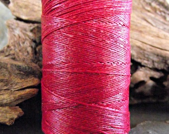 2 Ply Country Red Waxed Irish Linen Thread 10 Yards WIL-23,crochet thread,waxed linen thread,red Irish linen,twisted linen cord,2 ply thread