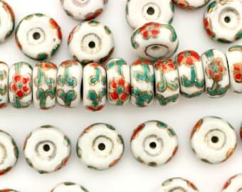 Porcelain Beads,Ceramic Beads,Cloisonne Style Porcelain,#POR090038