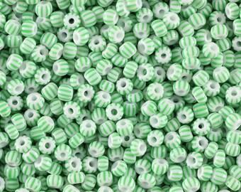 7/0 Seed Bead,Vintage Striped Czechoslovakian Seed Beads,Czech Seed Beads,Item #: SED041673