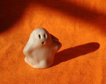 Ghost Boo Boo 5, Halloween miniature ghost figurine, handmade miniature ghost sculpture, miniature ghost Halloween decoration