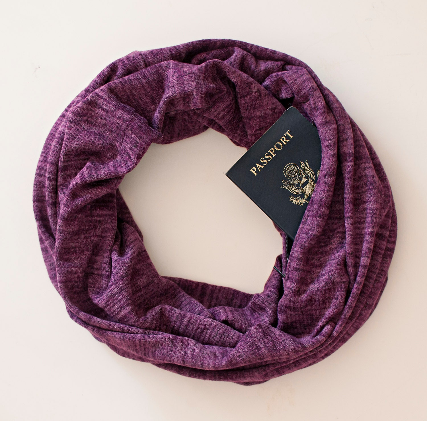 Soda springs scarf w hidden pocket travel gift passport for Travel scarf