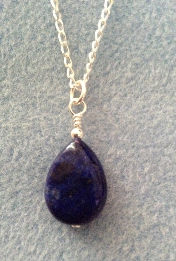 Lapis Lazuli Teardrop on Sterling Silver Chain NSS6151799