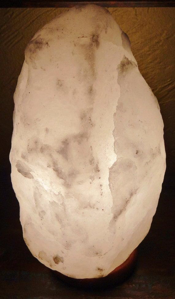 Our last large white himalayan rock salt crystal by elemeants for Large salt rock lamp