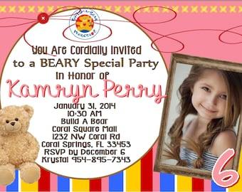 Build a Bear Invitation Invite Bear Party Build a Bear Party