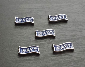 Navy Floating Charm for Floating Lockets-Gift Idea