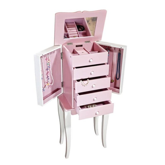 Items similar to Personalized Jewelry Armoire for girls ...