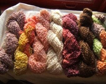 Hand dyed alpaca/mohair yarn