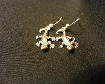 sterling silver matching geko earrings