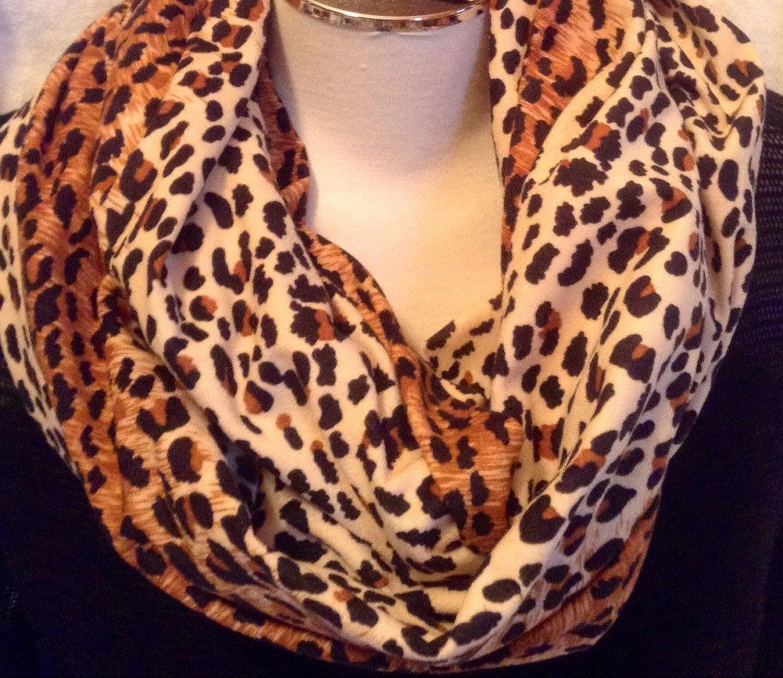 animal print scarf leopard print infinity scarf print