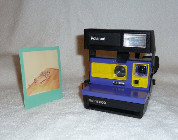 spirit 600 polaroid camera upcycled with by upcycledclassics. Black Bedroom Furniture Sets. Home Design Ideas