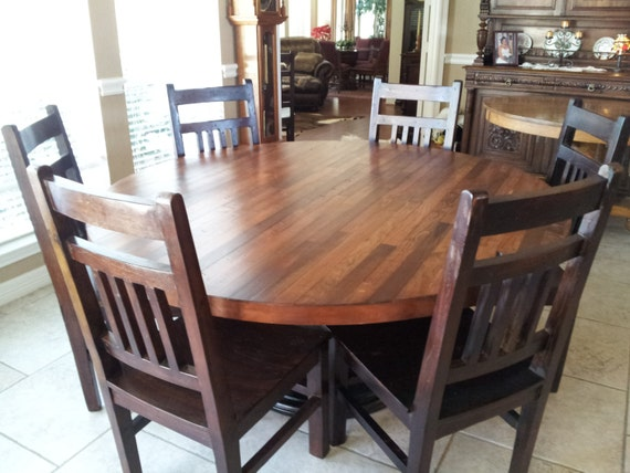 Hand Crafted 66 Plank Top Dining Table Handmade By