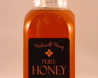 Classic Glass Muth Honey Jar of Fine Michigan Wildflower Honey - 16 ounce jar