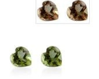 Alexite Autumn Synthetic Color Change Gemstones Heart Cut Set of 2 1A Quality 5mm TGW 0.75 cts.