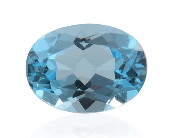 Blue Topaz Oval Cut Loose Gemstone 1A Quality 8x6mm TGW 1.30 cts.