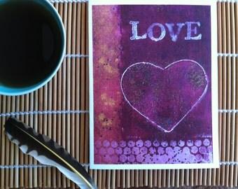 Love- Postcard