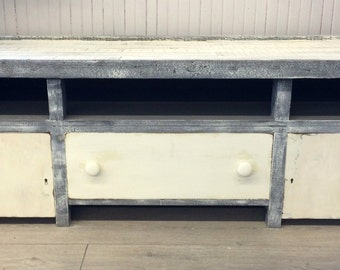 Rustic Reclaimed Wood Entertainment Center.