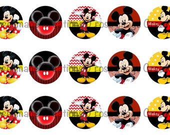 Mickey Mouse 1 inch digital bottle cap images *coupon codes in description*