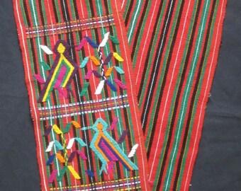 Guatemalan Weaving Runner / Chajul Nebaj / Hand Woven Backstrap Loom / Maya Textile / Guatemala