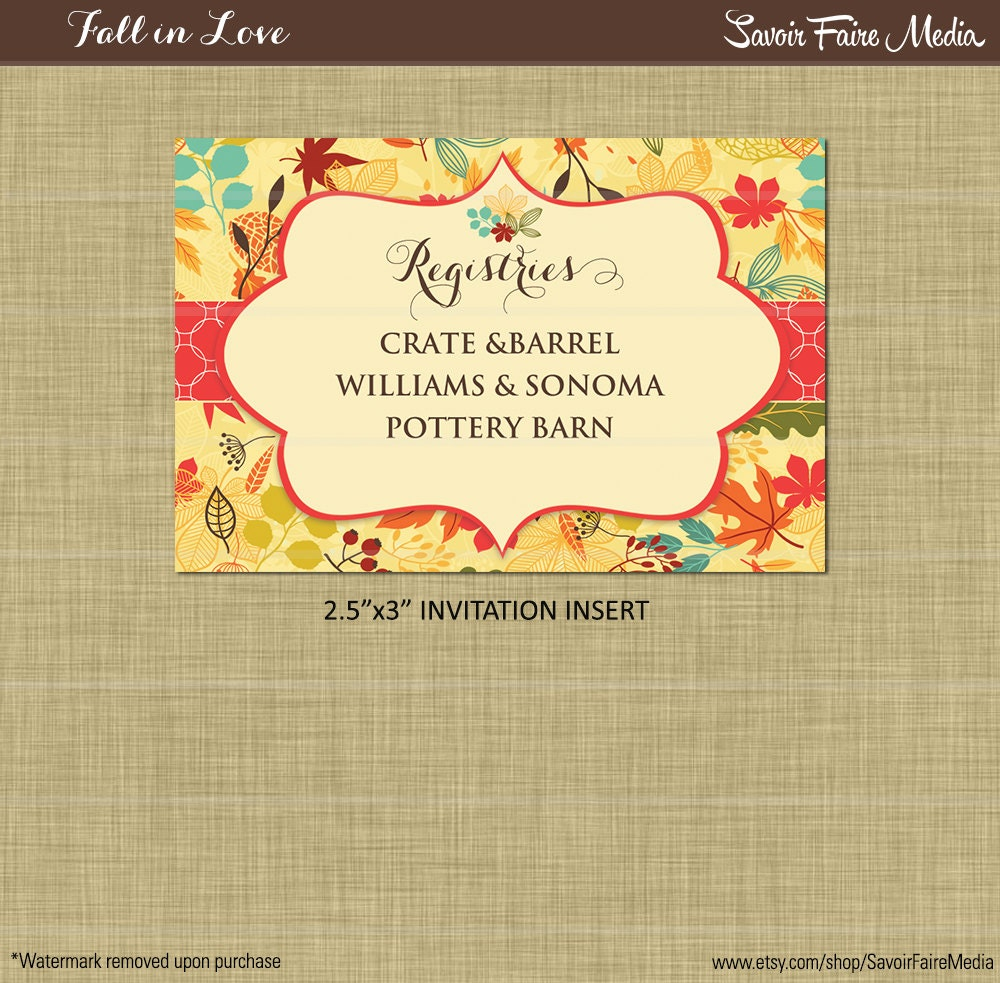 Fall Bridal Shower Luncheon Invitation Fall By Sfmprintables
