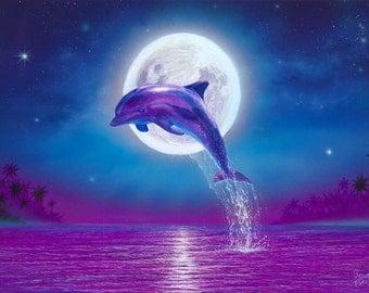Dolphin Art Print Dolphins Wall Decor Beach