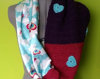 Upcycled Heart Cowl