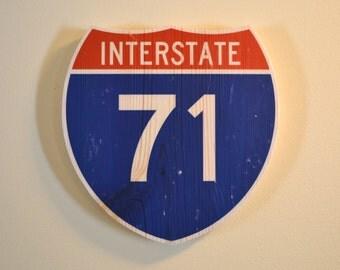 Custom Interstate Wall Art