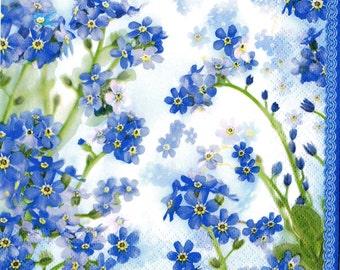 """6 Decoupage Napkins Beautiful Flowers Floral Napkins    33x33 cm. 13""""x13"""" set of 6 pcs"""