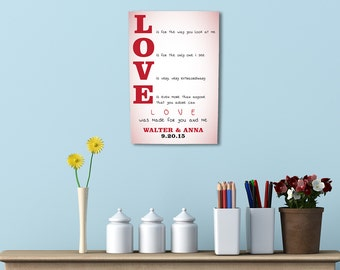 Custom Love Wedding Personalized Wall Art Wedding Gifts poster