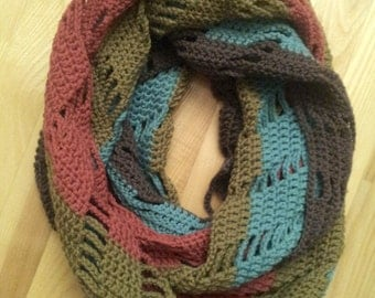 Crochet infinity scarf JOLITA pattern / instructions / how to