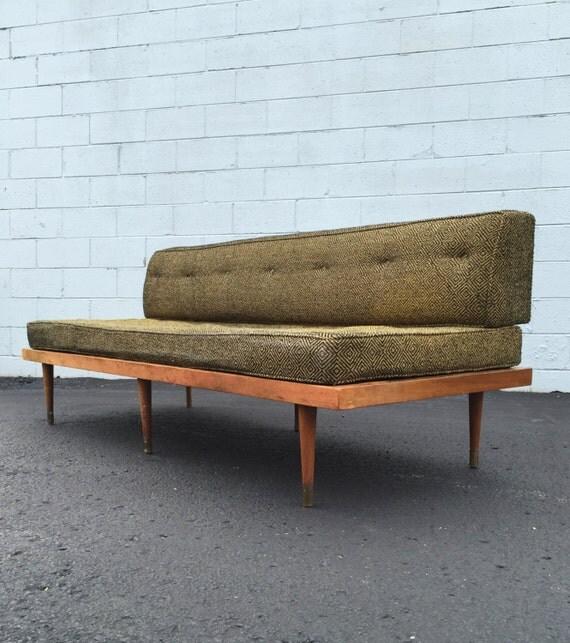 Vintage Mid Century Danish Modern Platform Daybed Sofa C1960