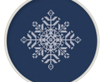 Snowflake Cross Stitch Pattern, Holiday Project, NOEL, Instant Download, Free shipping, Cross-Stitch PDF, MCS109