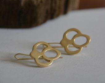 Gold earrings, keys earrings, antique earrings, gold key earrings, bridal earrings, bridesmaid earrings, wedding earrings, gift, efrat makov