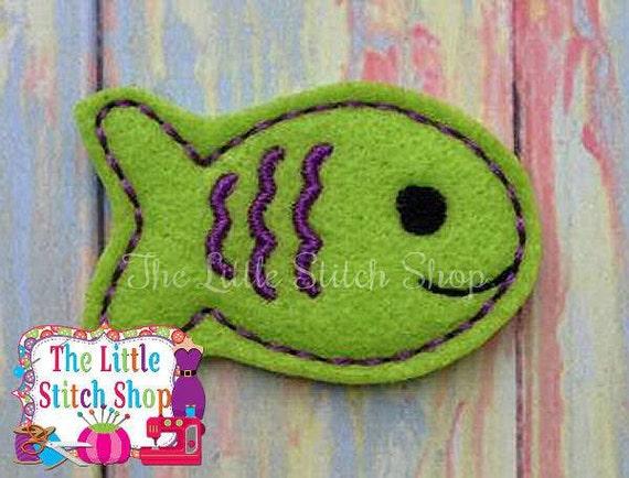 Fish Feltie Embroidery Design