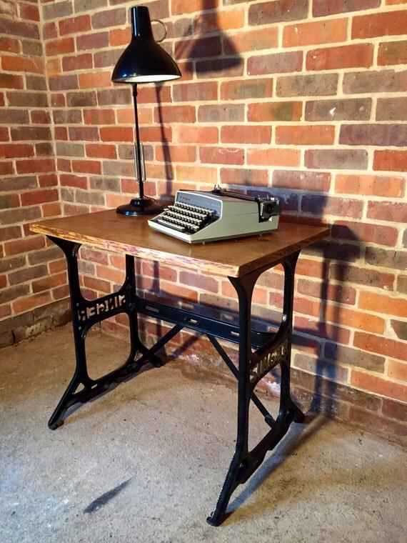 vintage industrial singer sewing machine