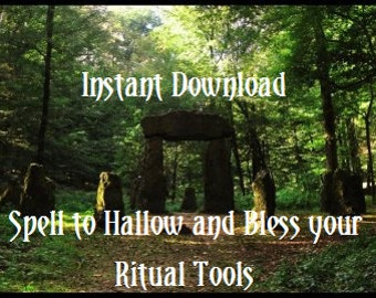 Making Your Ritual Tool Your Own, Consecration Before Use. Instant Download 2 page ebook. Wicca Wiccan Pagan Magic Mystic Ritual Spell.