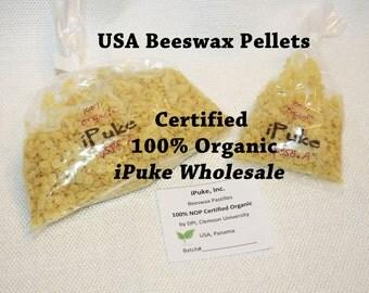 CERTIFIED 100% US Organic beeswax pellets