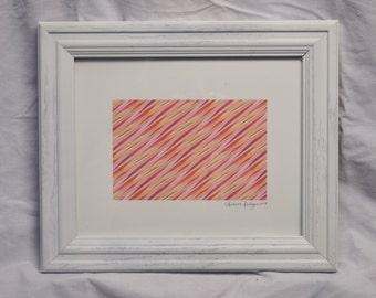 Abstract Muscle Fiber Glicee Print | 8 x 10 Framed or Unframed | Digital Vector Medium