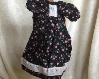 Vintage Rose Bud Doll Dress